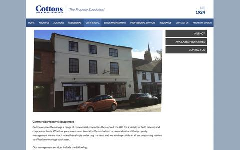 Screenshot of Team Page cottons.co.uk - Commercial Properties Management | Cottons Chartered Surveyors - captured Sept. 5, 2017