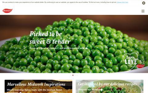 Screenshot of Home Page birdseye.ie - Birds Eye - Discover Our Frozen Food Range - captured July 2, 2018