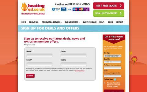 Screenshot of Signup Page heatingoil.co.uk - Home Heating Oil   Sign Up To Deals   Heatingoil.co.uk - captured Nov. 1, 2014
