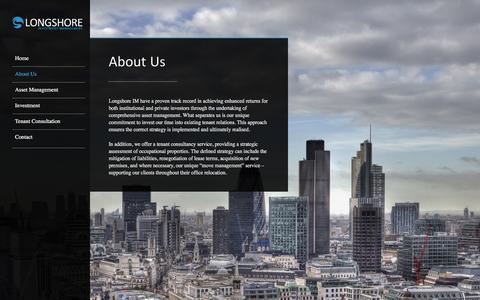 Screenshot of About Page longshoreim.com - Longshore Investment Management   � About Us - captured Dec. 13, 2015