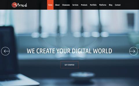 Screenshot of Home Page interad.gr - Home - Web Design, Web Development, WebTV, Web Media, Mobile Apps, Post Production - iNTERAD, We Create your digital world! - captured March 14, 2016