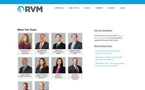 Screenshot of Team Page rvminc.com - RVM Enterprises, Inc. » Team - captured May 24, 2018