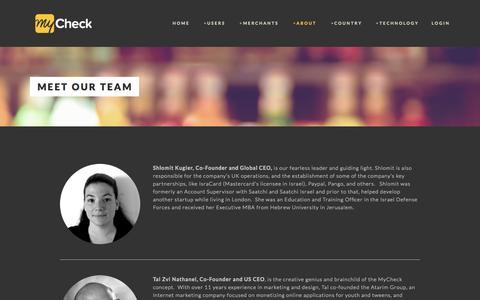 Screenshot of Team Page mycheckapp.com - Meet our team — MyCheck - Split & pay check, bill, tab or ticket | Checkout like a Rockstar - captured Sept. 16, 2014