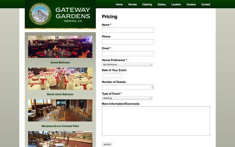 Screenshot of Pricing Page gatewaygardensmerced.com - Pricing   Gateway Gardens - captured Oct. 2, 2014