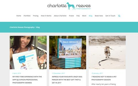 Screenshot of Blog charlottereeves.com.au - Charlotte Reeves Photography | Blog - captured Sept. 27, 2018