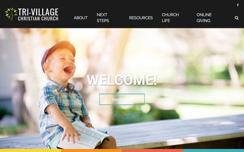 Screenshot of Home Page tri-village.org - Tri-Village Christian Church - captured June 29, 2018