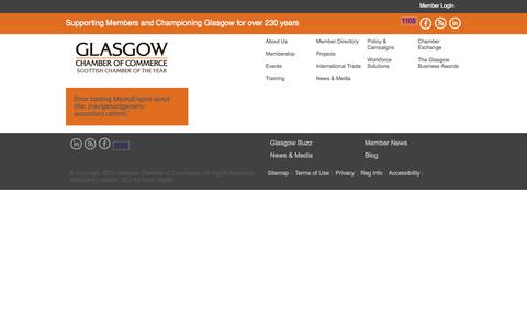 Screenshot of Signup Page glasgowchamberofcommerce.com - Glasgow Chamber of Commerce - Championing Glasgow Since 1783 - captured July 21, 2015