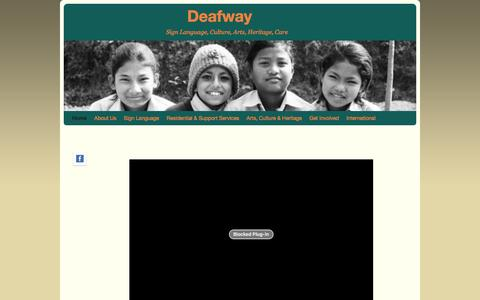 Screenshot of Home Page deafway.org.uk - Deafway | Sign Language,   Culture,   Arts,   Heritage,   Care - captured Jan. 7, 2016