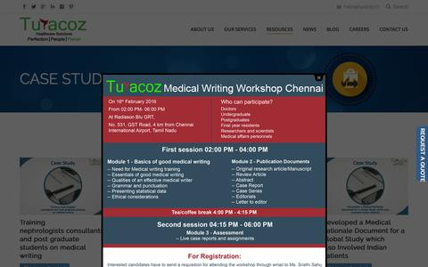 Screenshot of Case Studies Page turacoz.com - Clinical Case Study  | Turacoz - Healthcare Solutions - captured Feb. 17, 2016