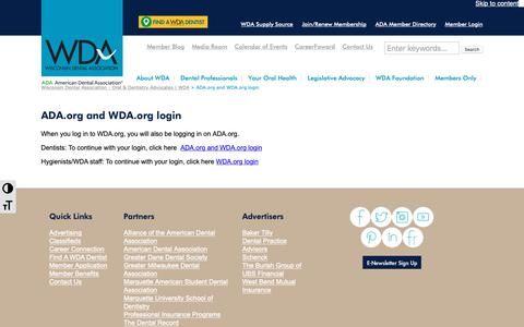 Screenshot of Case Studies Page wda.org - ADA.org and WDA.org login - Wisconsin Dental Association - Oral & Dentistry Advocates | WDA - captured Oct. 18, 2018