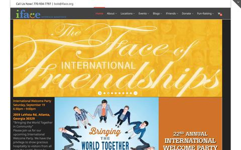 Screenshot of Home Page iface.org - Home | iFace Ministries - captured Sept. 7, 2015