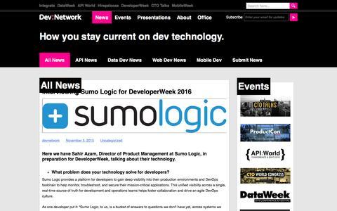 Screenshot of Press Page devnetwork.com - News - DevNetwork - captured Jan. 7, 2016