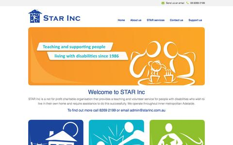 Screenshot of Home Page starinc.com.au - Welcome to STAR Inc - Star Inc - captured Dec. 2, 2016