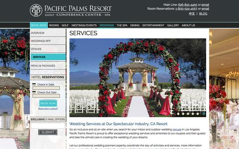 Screenshot of Services Page pacificpalmsresort.com - Outdoor Wedding Venues Los Angeles | Pacific Palms Resort - captured July 15, 2018