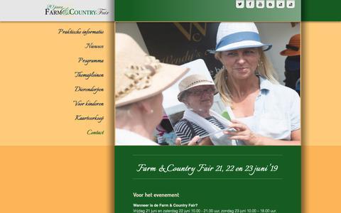 Screenshot of FAQ Page countryfair.nl - Faq - captured Oct. 1, 2018