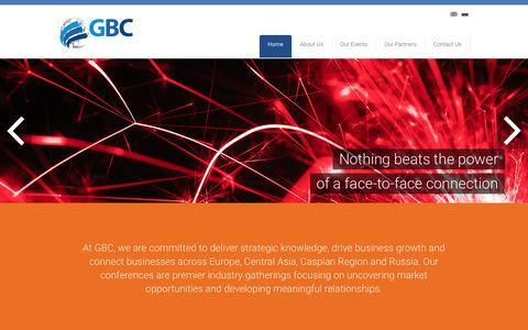 Screenshot of Home Page globuc.com - GBC   - captured Jan. 22, 2016