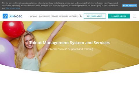 Screenshot of Services Page silkroad.com - Talent Management System for HR & Talent Management Services | SilkRoad - captured Sept. 30, 2018