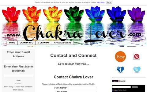 Screenshot of Contact Page chakra-lover.com - ChakraLovers Contact Form - captured Sept. 24, 2018