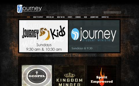 Screenshot of Home Page jccwired.com - Journey Community Church - captured Oct. 6, 2014