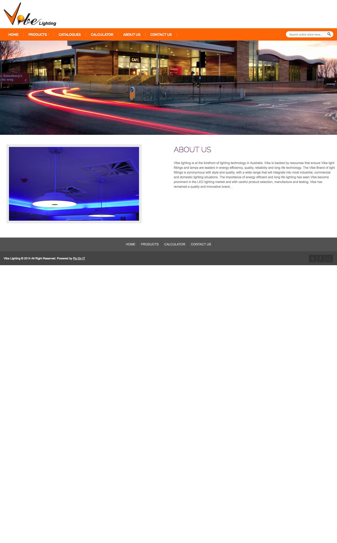 web design example a page on vibelighting com au crayon
