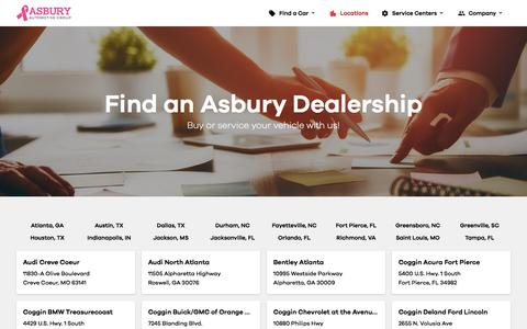 Find a Car Dealership | Asbury Automotive Group