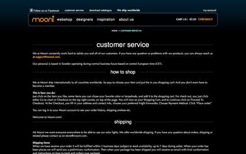 Screenshot of Contact Page Support Page mooni.com - Mooni.com | Customer Service EN - captured Oct. 5, 2014