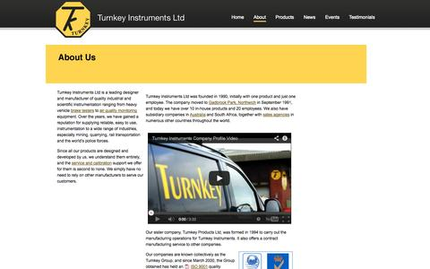 Screenshot of About Page turnkey-instruments.com - Turnkey Instruments: About Us - captured Oct. 7, 2014