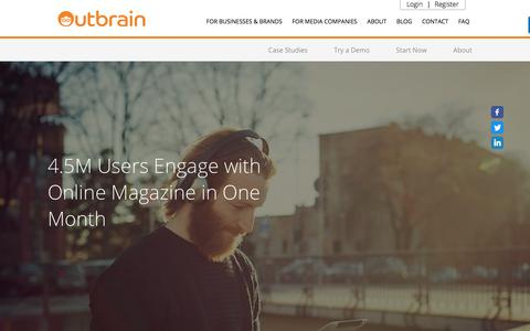 Screenshot of Case Studies Page outbrain.com - Babbel's Case Study: How To Increase User Engagement | Outbrain.com - captured April 19, 2018
