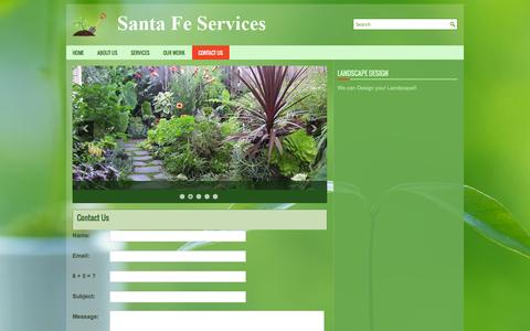 Screenshot of Contact Page santafeservicesinc.com - Contact Us | Santa Fe Services Inc - captured Sept. 30, 2014