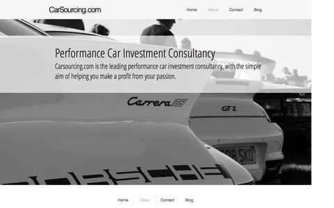 Screenshot of About Page carsourcing.com - About performance car investment - captured Oct. 25, 2016