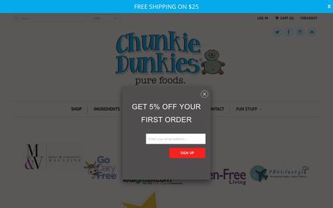 Screenshot of Press Page chunkiedunkies.com - PRESS - Chunkie Dunkies - captured July 17, 2018