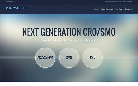Screenshot of Home Page pharmatech.com - PHARMATECH - captured Sept. 29, 2014