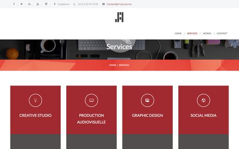 Screenshot of Services Page artcoustic.ma - Services | Artcoustic - captured Feb. 6, 2016