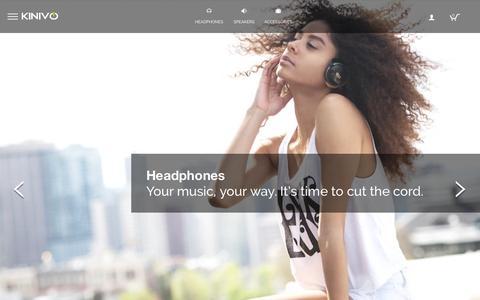 Screenshot of Home Page kinivo.com - Electronics For Everyday Life - captured Oct. 2, 2015