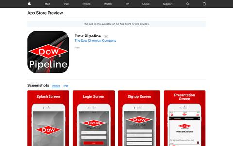 Dow Pipeline on the AppStore