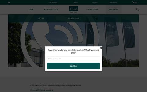 Screenshot of Contact Page kneipp.com - Press contact   Kneipp - captured Oct. 15, 2018