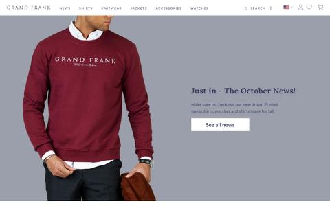 Screenshot of Login Page grandfrank.com - Grand Frank - captured Oct. 12, 2018
