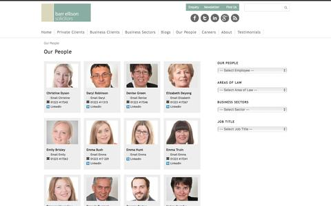 Screenshot of Team Page barrellison.co.uk - Our People - Cambridge Solicitors Barr Ellison Legal Services - captured Oct. 10, 2017