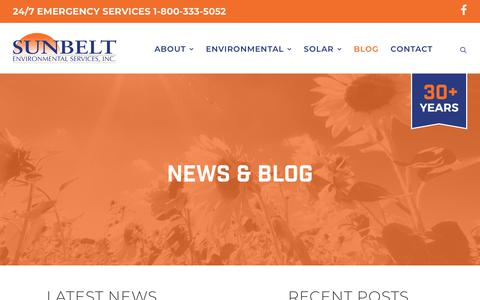 Screenshot of Blog sunbeltenv.com - Blog – Sunbelt Environmental Services, Inc. - captured Oct. 18, 2018