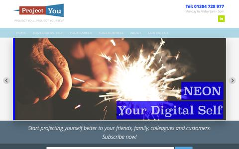 Screenshot of Home Page project-you.uk - Project You | Coaching, Self-Marketing, Strategy & Support - captured Oct. 14, 2015