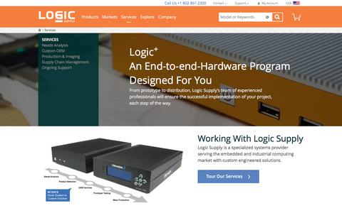 Screenshot of Services Page logicsupply.com - OEM Services  | Logic Supply - captured Feb. 17, 2017