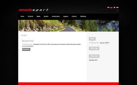 Screenshot of Press Page amadasport.com - Amada Sport  » News - captured Oct. 4, 2014
