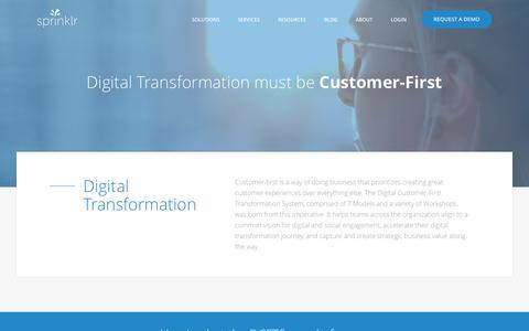 Digital Customer-First Transformation System - Sprinklr