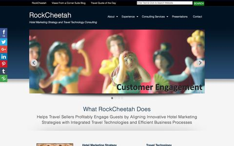 Screenshot of Home Page rockcheetah.com - Hotel Marketing Strategy and Travel Technology Consulting   RockCheetah - captured Oct. 18, 2018