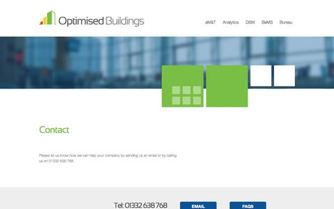 Screenshot of Contact Page optimisedbuildings.com - Optimised Buildings - captured Sept. 30, 2014