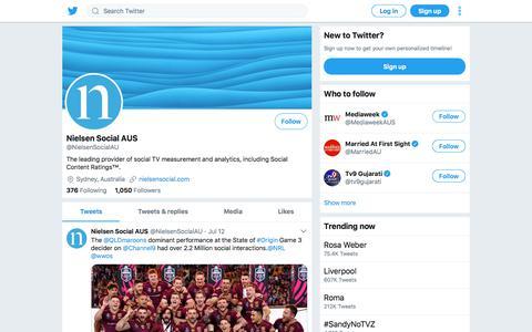 Tweets by Nielsen Social AUS (@NielsenSocialAU) – Twitter