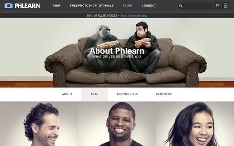 Screenshot of Team Page phlearn.com - Team - captured Dec. 1, 2015