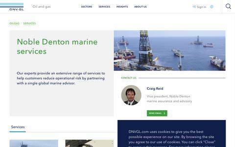 Screenshot of Services Page dnvgl.com - Noble Denton marine services - DNV GL - captured Dec. 7, 2019