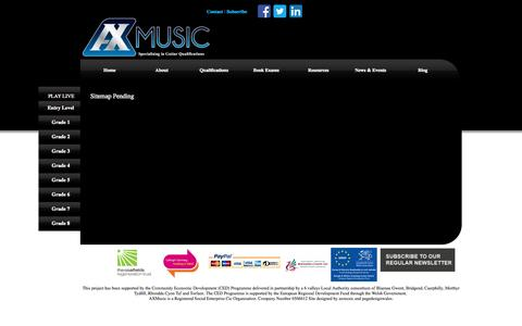 Screenshot of Site Map Page axmusic.co.uk - AXMusic Guitar Exams Sitemap AXMusic Guitar Exams - captured Sept. 30, 2014