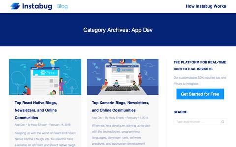 Screenshot of Developers Page instabug.com - App Dev Archives | Page 4 of 8 | Instabug Blog - captured Dec. 3, 2019